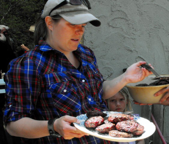 Bison burgers being served at perfect 10 bison ranch in Nebraska's sandhill country