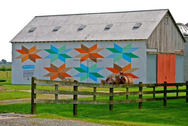 Barn Quilt Art at Crow Farm Winery and B&B in Kennedyville, Md.