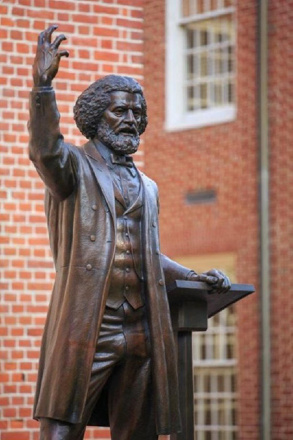 Talbot County, Maryland also is the birthplace of Frederick Douglas and they honor their native son with a fine art sculpture by Jay Hall Carpenter on the Talbot County Courthouse lawn in Easton.