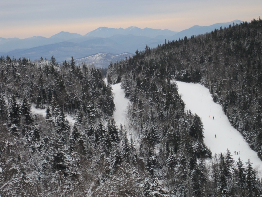 View of Gore ski trails in North Creek New York