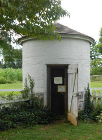 Round smokehouse at Landis Valley Village and Farm Museum located near Lancaste