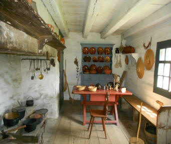 Kitchen in farm building  at Landis Valley Village and Farm Museum located near Lancaste