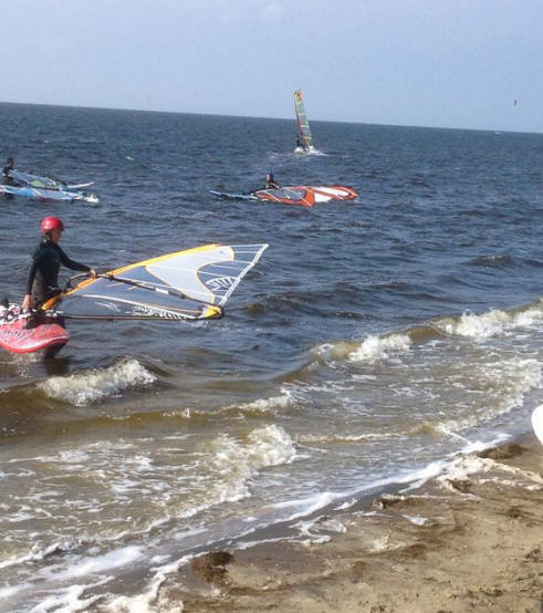 windsurfer at Haulover Beach North Carolina
