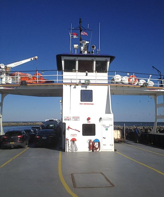 Ferry arriving at Beaufort, North Carolina