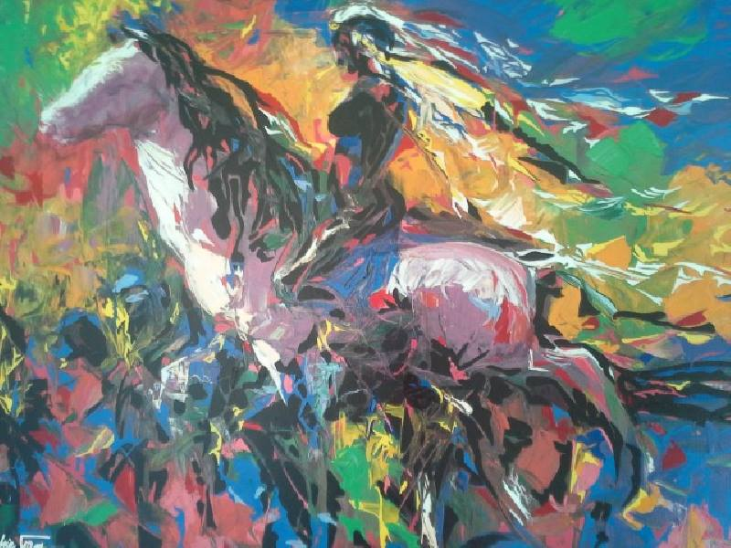 Caribe' by Wichie Torres and Eli Vega, one of the paintings on exhibit in the Centro inPuerto Rico