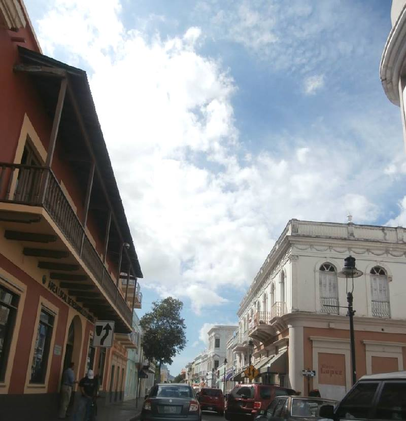 old street in Ponce in Puerto Rico