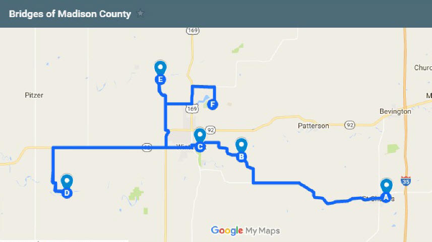 Bridges Of Madison County Map | Krutiki