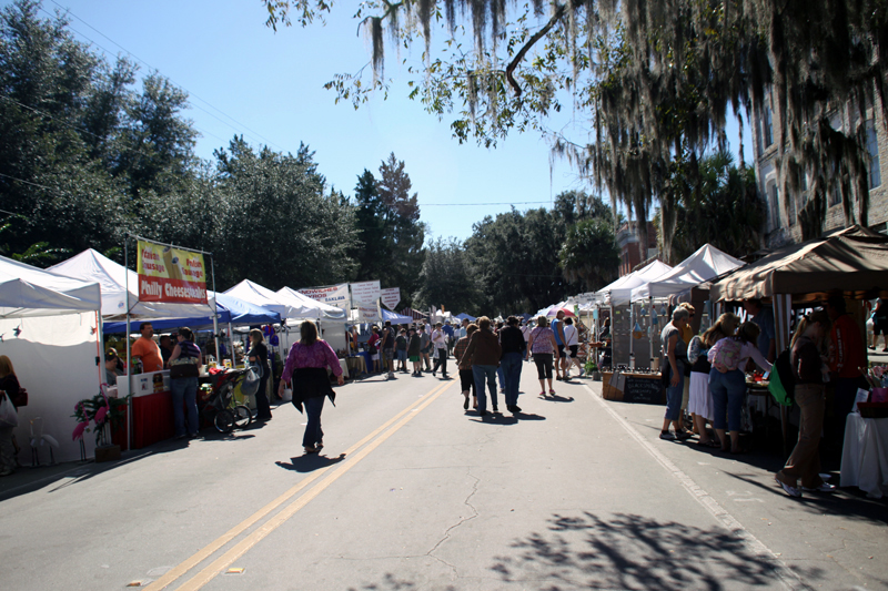 Main street Micanopy during the Fall Festival