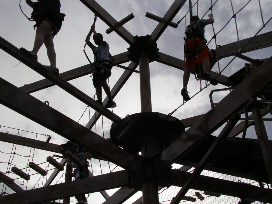 The ropes course on Norwegian Escape