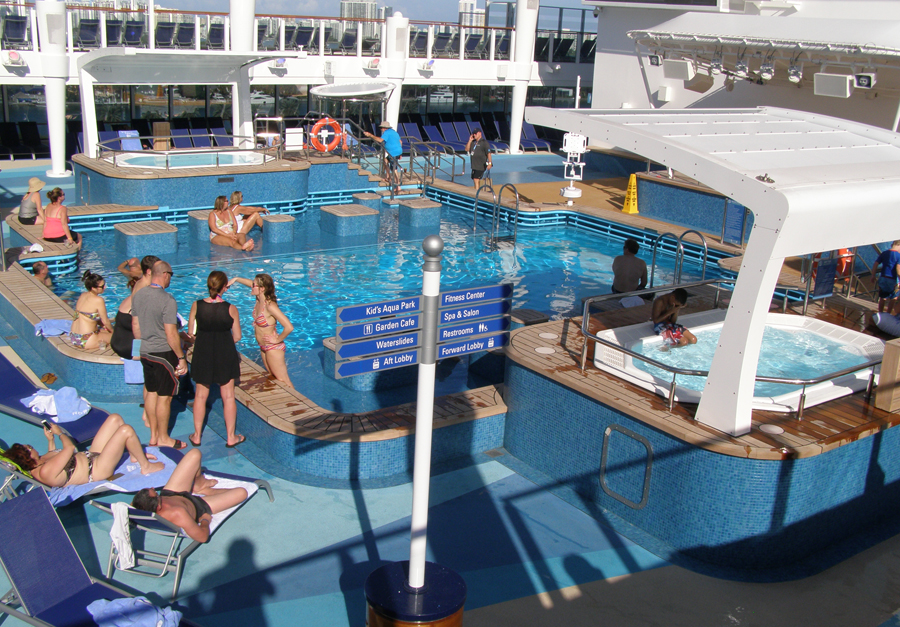 One Of The Swimming Pools On Norwegian Escape