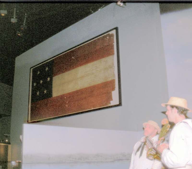 Authentic Confederate flag at Naval Museum