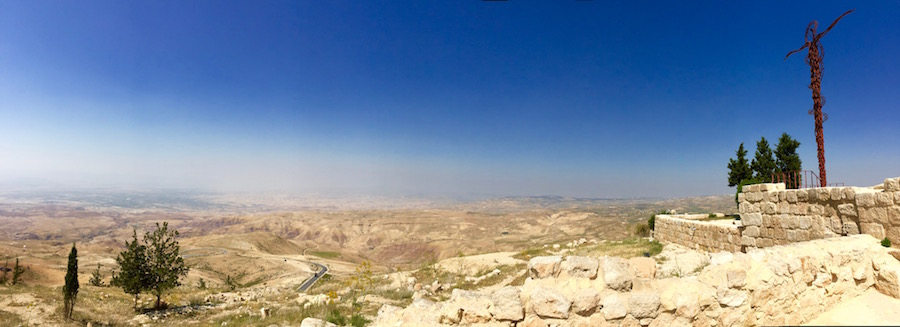 panaramic view looking over Promised Land form Mt. Nebo