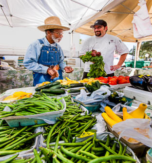 Chef Windus shops at farmers market in Winter Park