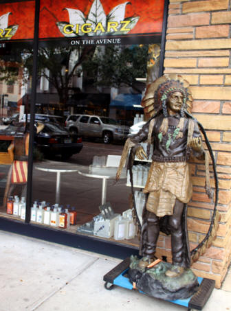 A cigar store Indian in Winter Park