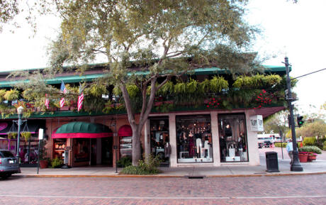 Shops in downtown Winter Park, Florida