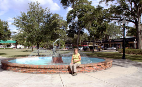 Fountain in downtown Winter Park, Florida