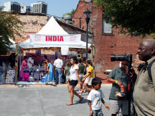 Indian food tent at Arts in the Heart of Augusta