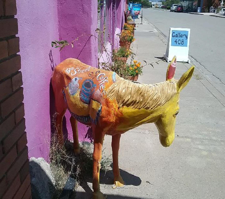 Sculpture of a burro