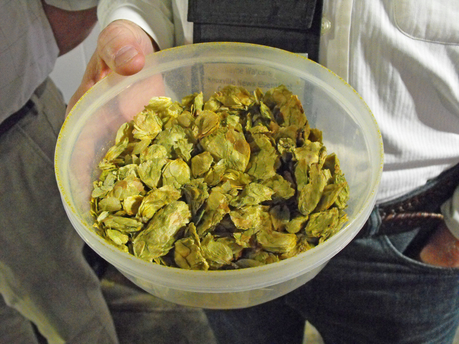 a bowl of hops
