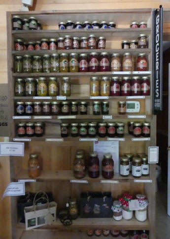 jars of canned fruit and vegatables at Old McCaskill Farm