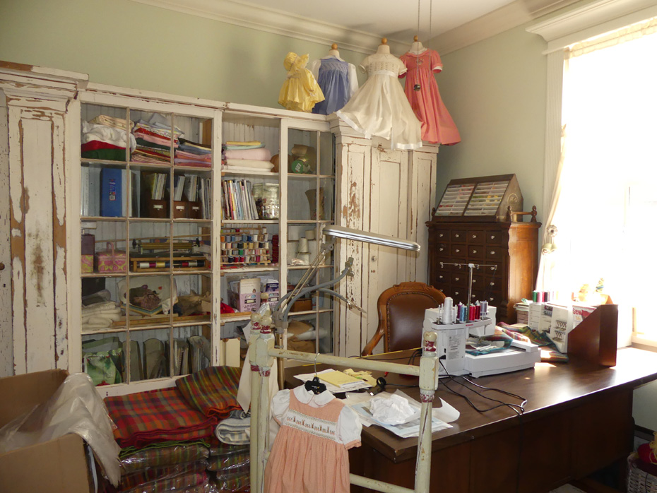 sewing room at Old McCaskill Farm