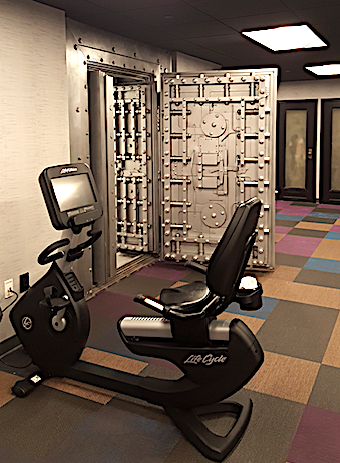 Exercize machine and bank vault