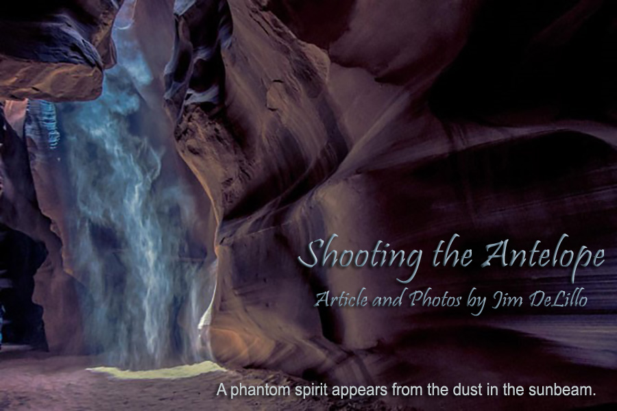 phantom spirit of an antelope in slot canyon in Page, AZ
