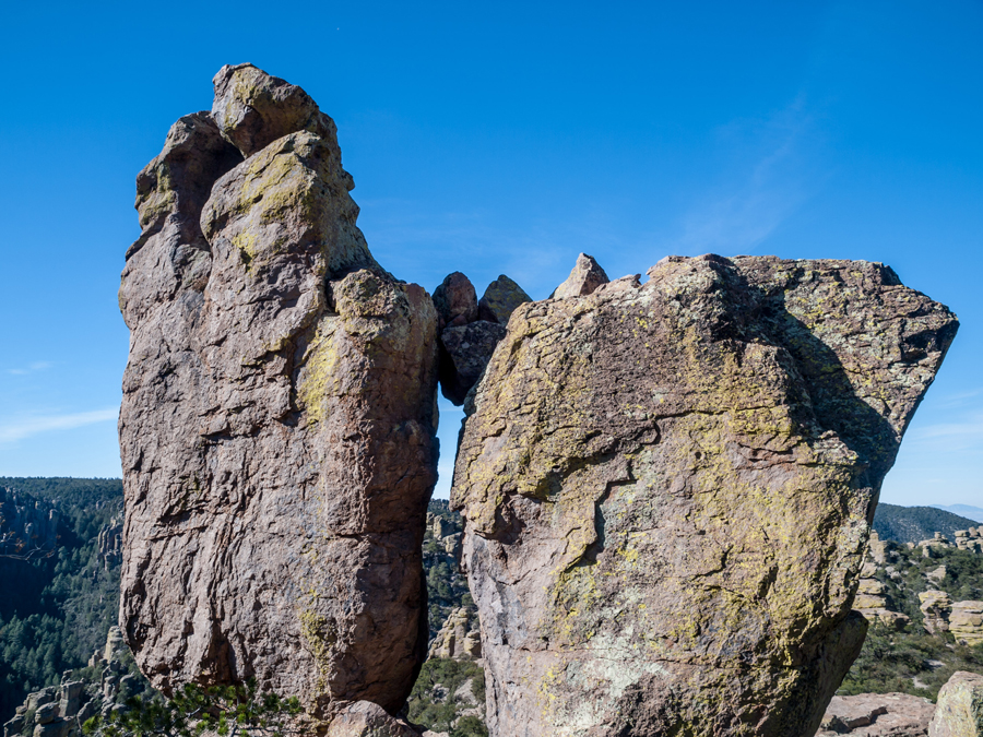 two large rock formation in Willcox Arizona