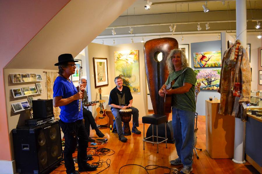 Alexander Gallery in Nevada City, CA showcased the band No Parachute for their First Friday Artwalk Artist Receptions in 2015.
