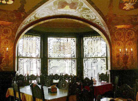 Tiffany window at Flagler College in St. Augustine, FL