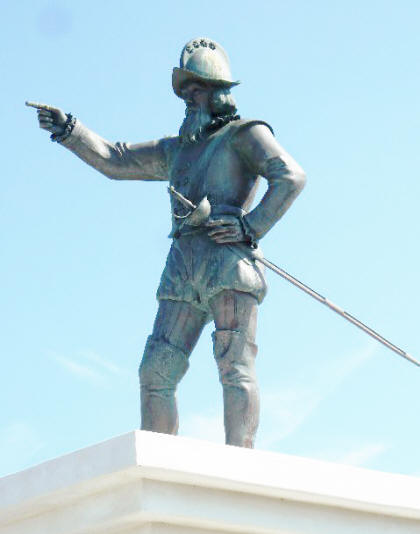 Stature of Ponce de Leon in St. Augustine, florida