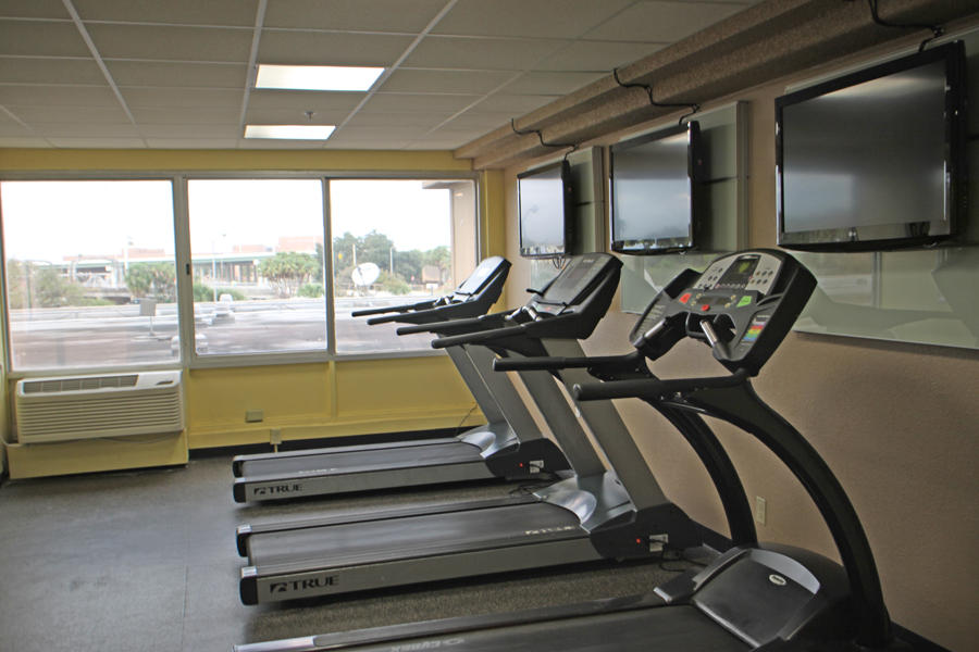 Fitness center in Barrymore Hotel in Tampa