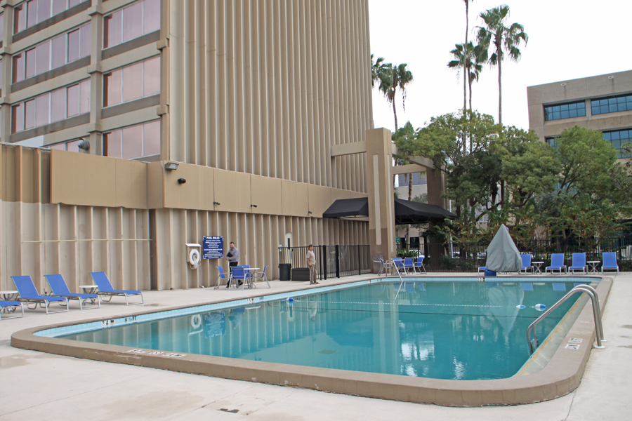 Outside pool at Barrymore Hotel in Tampa