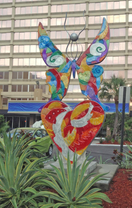 "Sculpture called ""Rebirth"" by clayton Swartz outside Barrymore Hiotel in Tampa"