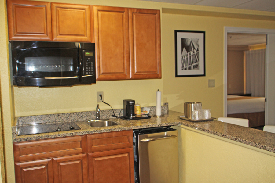 Kitchen in suit in Barrymore Hotel in Tampa
