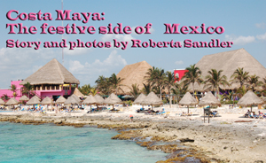 Beach scene in Costa Maya, Mexiso