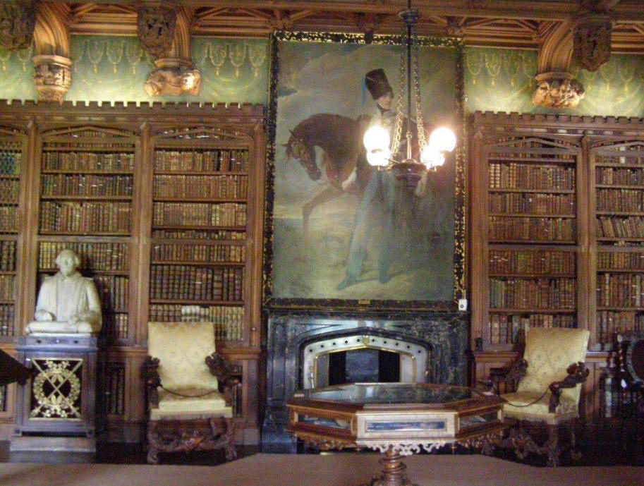 Library at Abbotsford, Sir Walter Scott's home in Edinburgh;