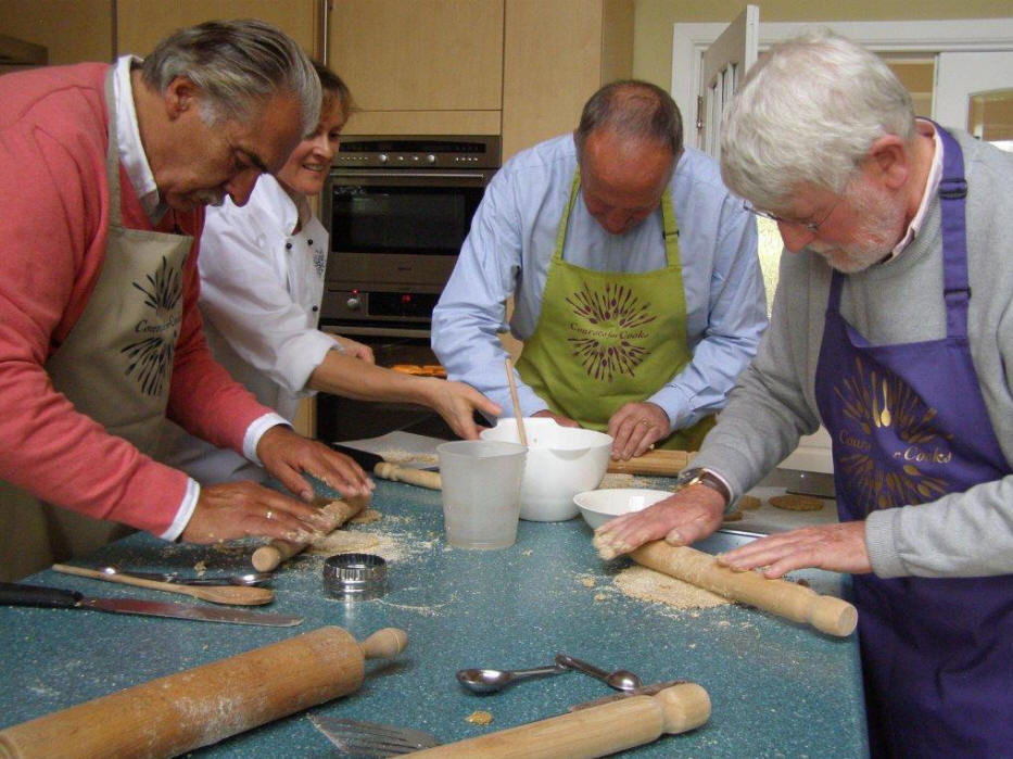 Participants in a cooking class in Edinburgh