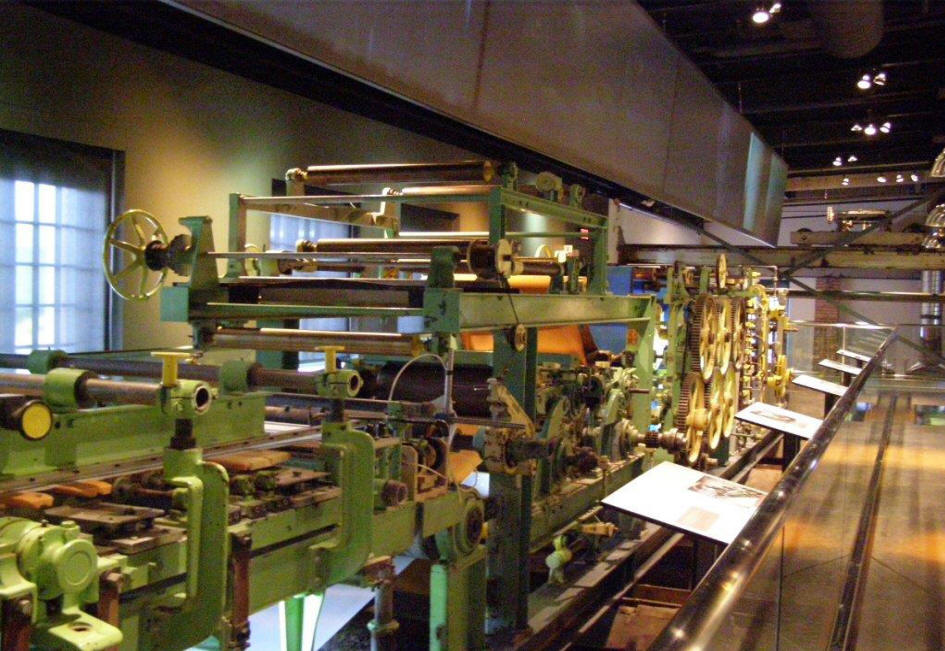 Paper making machinery at Borealis (Exhibition Centre), Trois Rivieres