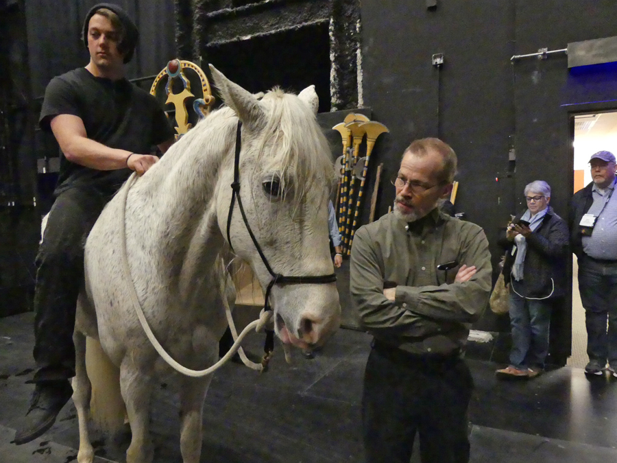 Horse actor and crew at Sight and Sound Theater in Branson