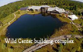 Wild Center building complex in  Adirondacks