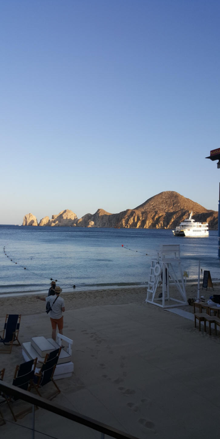 ship in the Sea of Cortez  at Los Cabos, Mexico