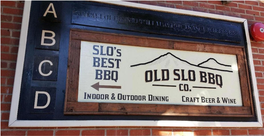 Old SLO BBQ sign