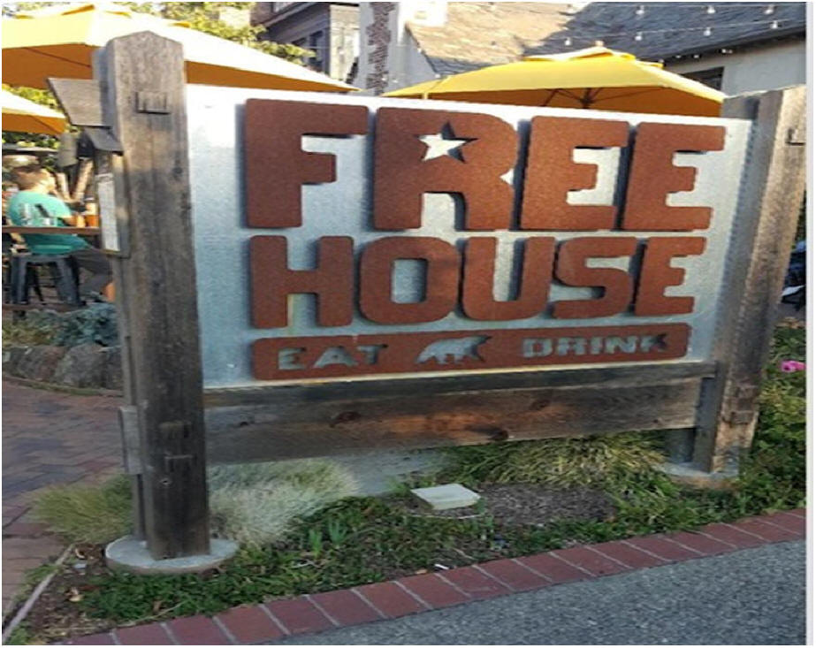 Free House Restaurant sign
