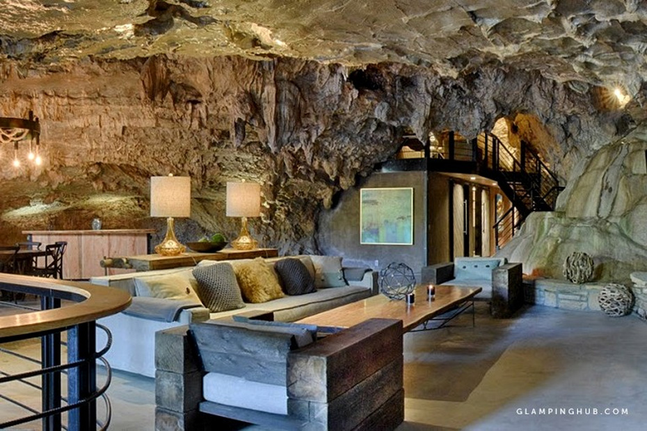 luxurious cave turned to lodging