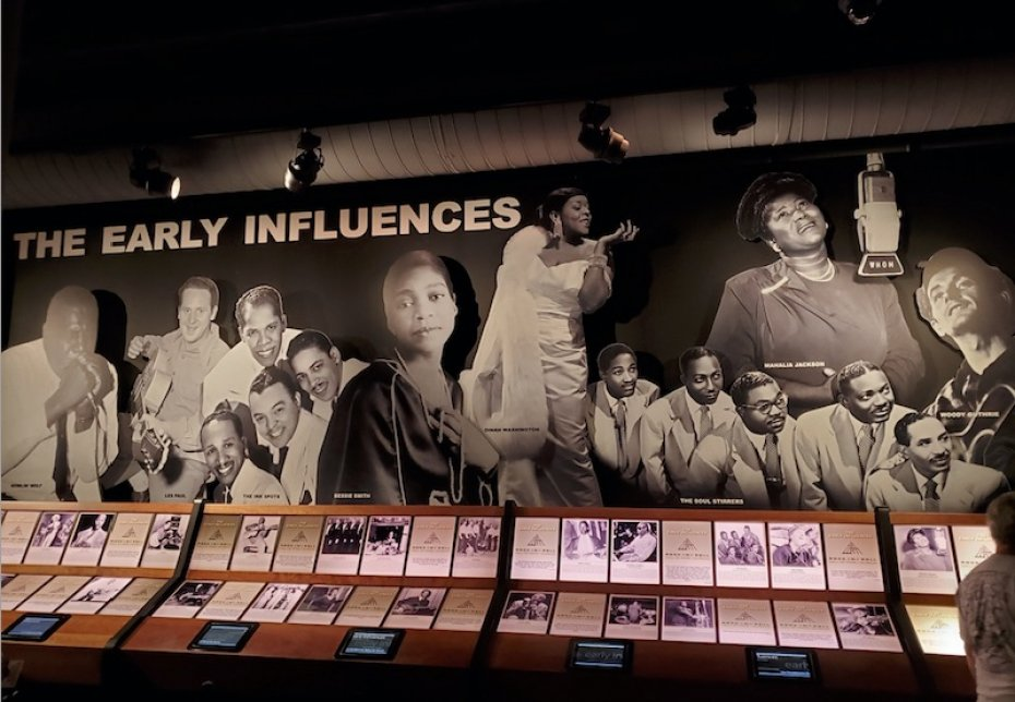 Early influencers of rock and roll at Cleveland Rock and Roll Hall of Fame