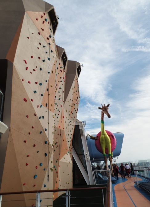 climbing wall on Anthem of the Seas