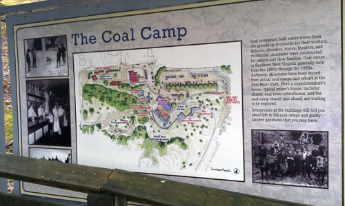 map of a coal town in West Virginia