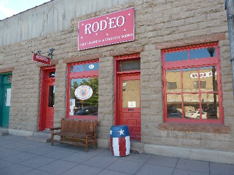 Rodeo Head Quarters across from Chamberlin Inn in Cody, Wyoming