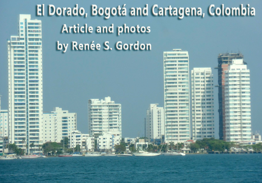 Cartagena, Colombia city view with title